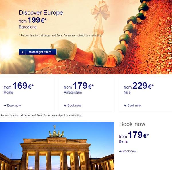 Lufthansa offers