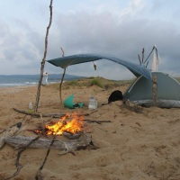 camping on the beach in Bulgaria